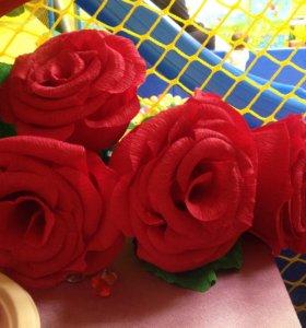 Роза, цветок из бумаги