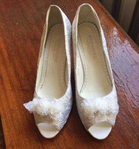 Туфли свадебные 38 р.