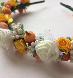 Цветочный ободок Handmade