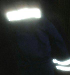 Куртка рабочая новая со светоотражающими