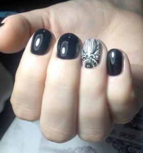 Маникюр, покрытие ногтей гель-лаком/шеллаком