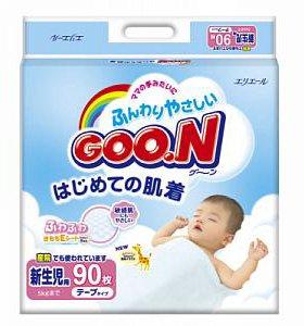 Японские подгузники GOON  NB  до 5 кг с доставкой