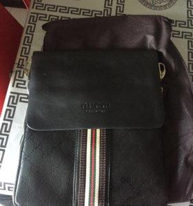 новая сумка мужская кожа+PU