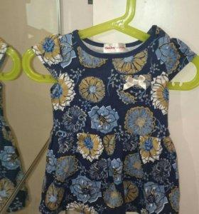 Платье на девочку 12-24 мес.