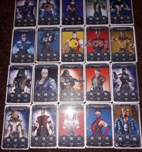 Карточки Mortal Kombat 20 штук