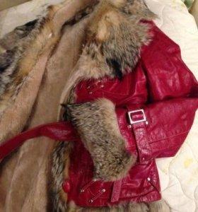Дубленка, куртка на меху кожаная зимняя