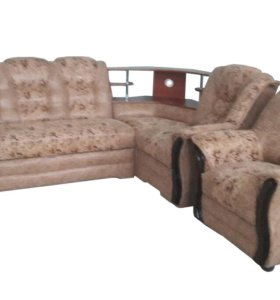 """0025 Угловой диван """"Аделина"""" с баром и креслом"""