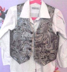 Жилет +рубашка