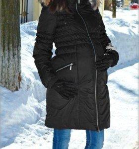 Зимний женский пуховик для беременных.