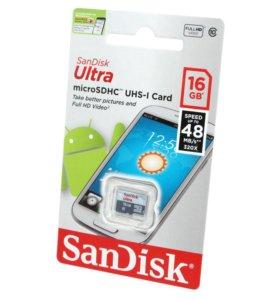 Карта памяти SanDisk 16 Gb 10 класс
