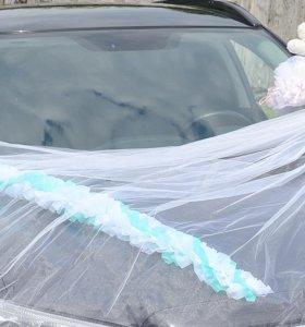 Свадебное украшение на авто
