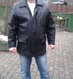 Куртка кожаная мужская зимняя