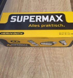 Пачка батареек AA Supermax. 60 штук