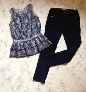 велюровые брюки Zara 9-10 л (134-140)