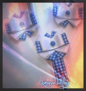 Резинки, галстуки, заколки, воротник.