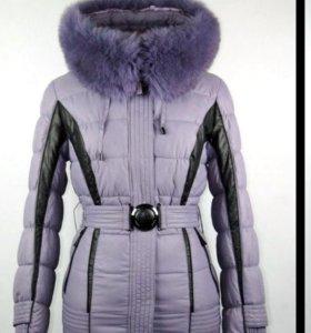 Новая куртка с натуральным мехмом