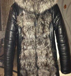Зимняя удлинённая куртка 44 р-р