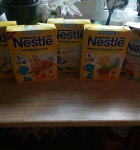 ☑ Каши Nestle молочные