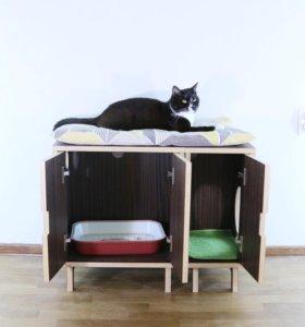 кошачий туалет-тумба