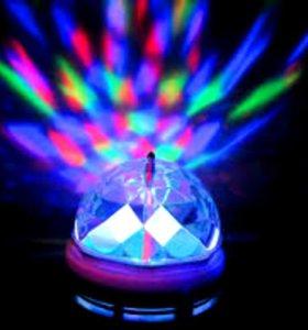 "Лампа ""Хрустальный шар"" - проектор цветных лучей"