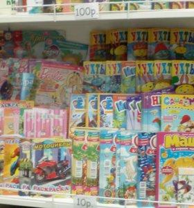 Детские журналы, книги - новое