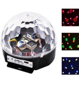 Светомузыкальный проектор цветных лучей