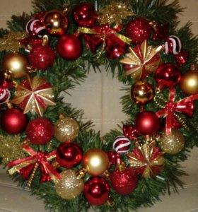 Венок рождественский новогодний