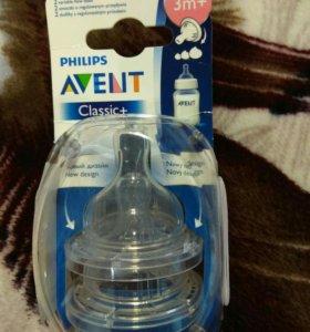 Соски для бутылочки Avent Classic +