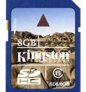 Карта Kingston SD 6/8GB