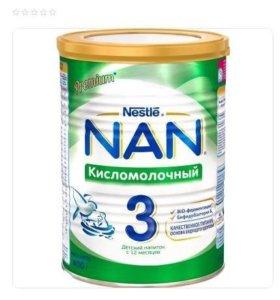 Нан кисломолочный 3
