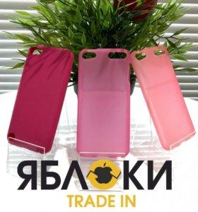 Чехол для iPhone розовый пластик