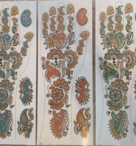 Аква-тату михенди (на обе руки)
