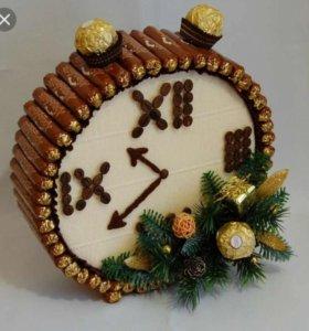 Часики из конфет к Новому году