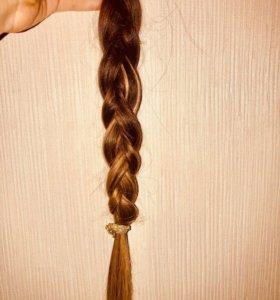 Натуральные волосы для наращивания . Капсулы