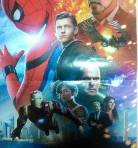 Плакат 1D и Человек паук.