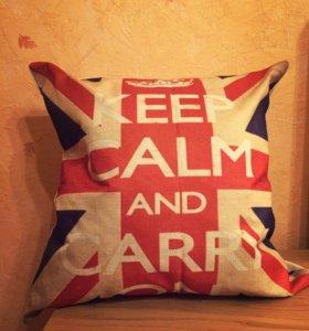 Наволочка на подушку с британским флагом