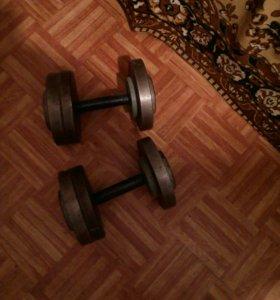 2 гантели по 20 кг