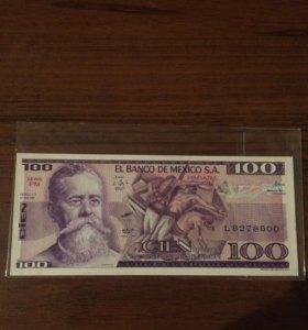 100 песо. Мексика 1981