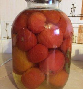 Помидоры маринованные с чесночком внутри помидор