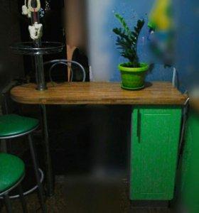 Барная стойка + 3 стула