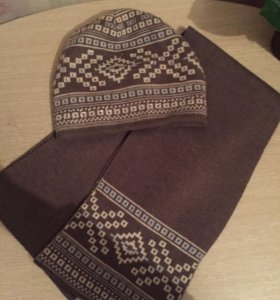 Шапка и шарф новые