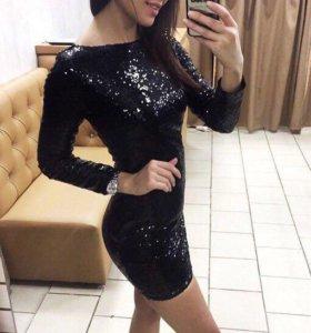 Новое платье с пайетками😍