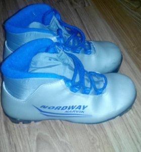Ботинки лыжные размер 35