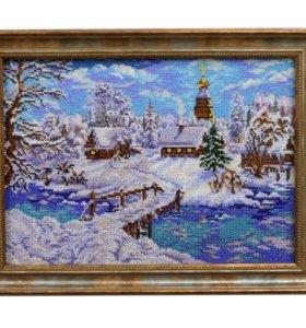 """Картина бисером """"Рождественская Сказка"""""""