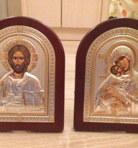 Иконы для венчания (Икона Владимирская и Иисус)
