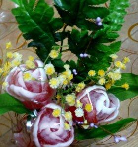 """Подарочное Мыло ручной работы """" Букет тюльпанов"""""""