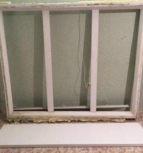 Окно ПВХ 3-хстворчатое