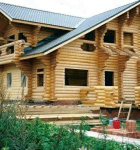 Сруб для дома из бревна ручной рубки