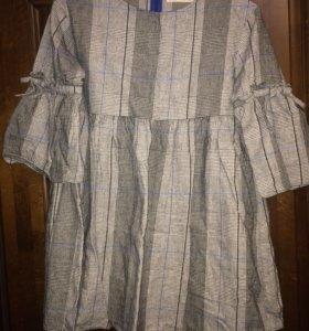 Платье в клетку ,13-14 лет