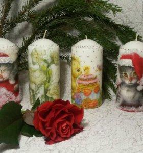 Свечи в подарок. На праздник